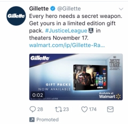 justice league gilette twitter ad