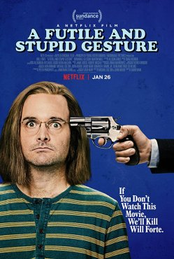 futile and stupid gesture poster