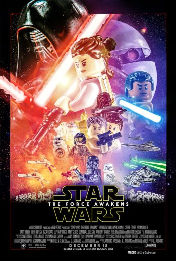 force awakens lego poster