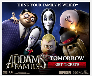 addams family online ad